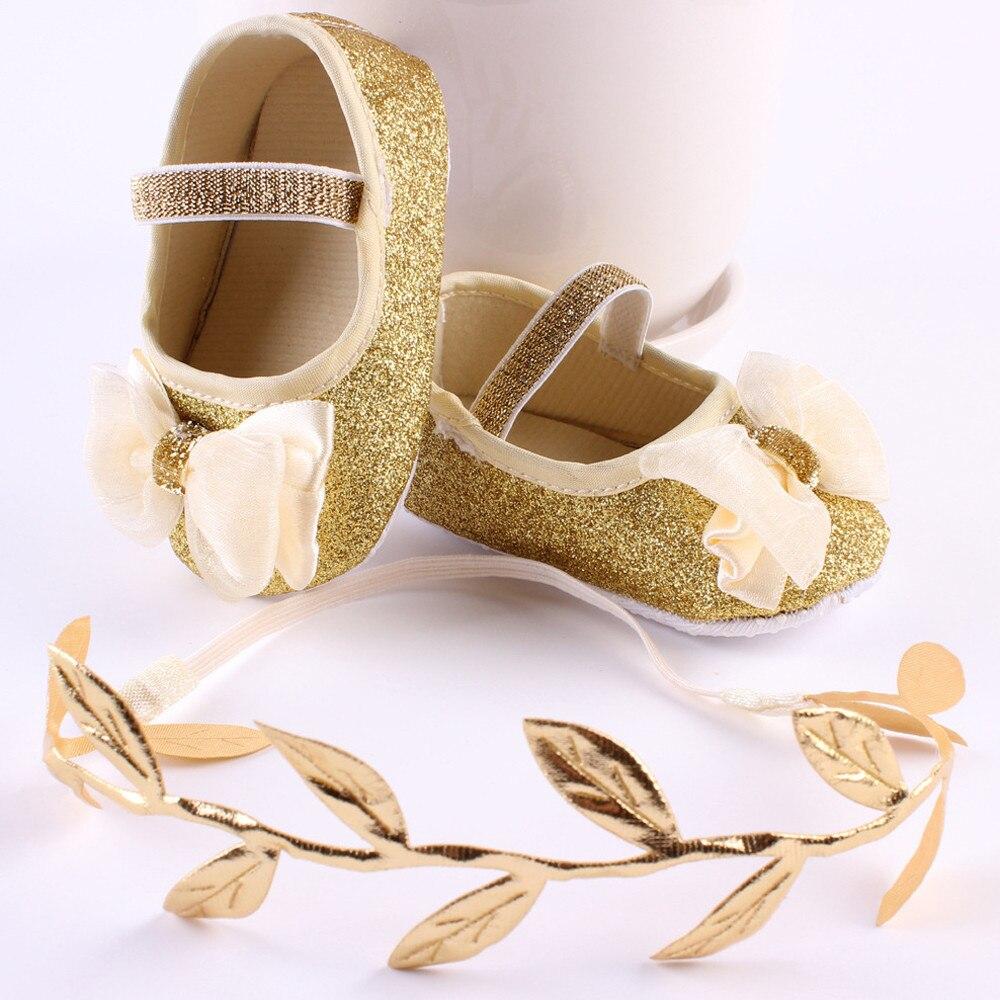 Chamsgend 2017 ткань для маленьких девочек Обувь с цветочным орнаментом тапки против скольжения руки мягкие Обувь + 1 шт. повязка на голову sep7 челно... ...