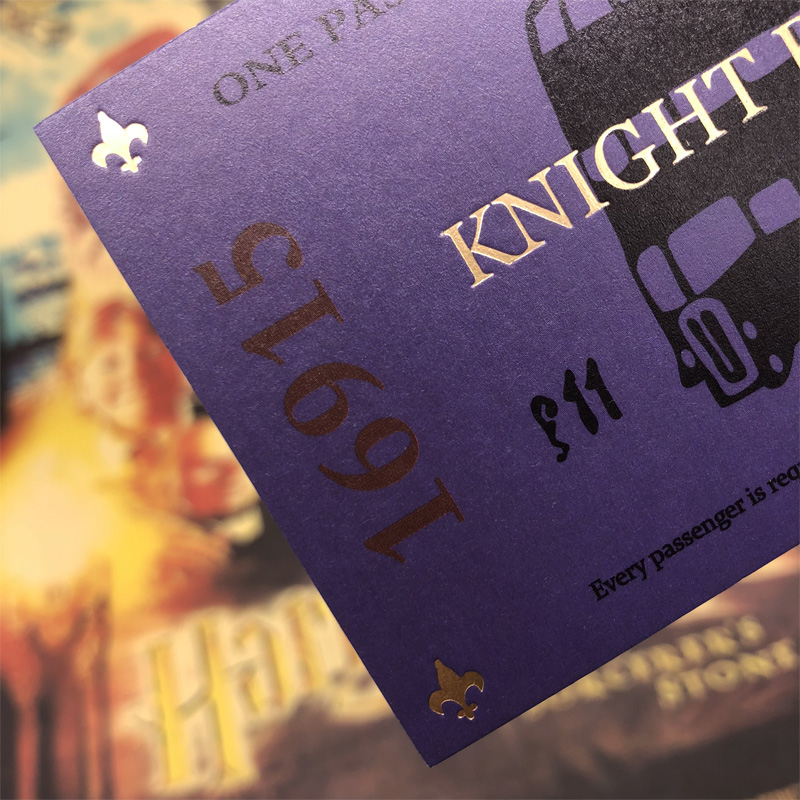 Image 4 - Harry Hogwart London Express Replica Train Ticket and  Knight Bus Ticket 1pcs  HP Prop Limited Supply-in Action & Toy Figures from Toys & Hobbies
