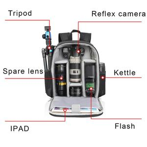 Image 4 - CADeN Camera Backpack Multi Functional Digital DSLR Camera Bag Waterproof  Bag Outdoor Camera Photo Case for Nikon Canon Sony