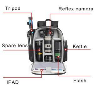 Image 4 - Caden câmera mochila multi funcional digital dslr câmera saco à prova dslr água ao ar livre câmera foto caso para nikon canon sony
