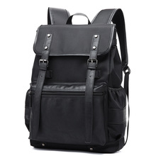 New Korean Style Mens Famous Brand Double Shoulder Bags Men Waterproof Nylon Laptop Backpack College School Backpacks