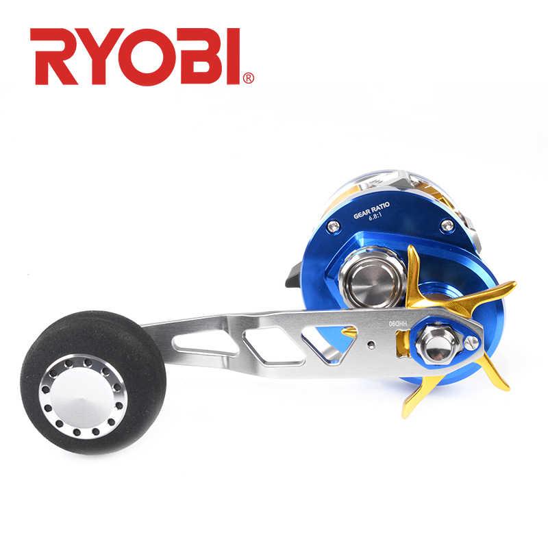 RYOBI RANMI بطيئة القفز 30L/R الصيد بكرة 10 + 1BB نسبة والعتاد 6.8: 1 ماكس السحب 12 كجم القفز بكرة اليسار/right اليد بكرة المياه المالحة