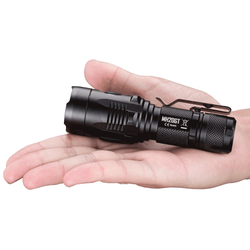 Free Shipping NITECORE MH20GT Micro USB Rechargeable 7Mode 1000LM XPL HI V3 LED Lamp Waterproof Flashlight Without 18650 Battery цена