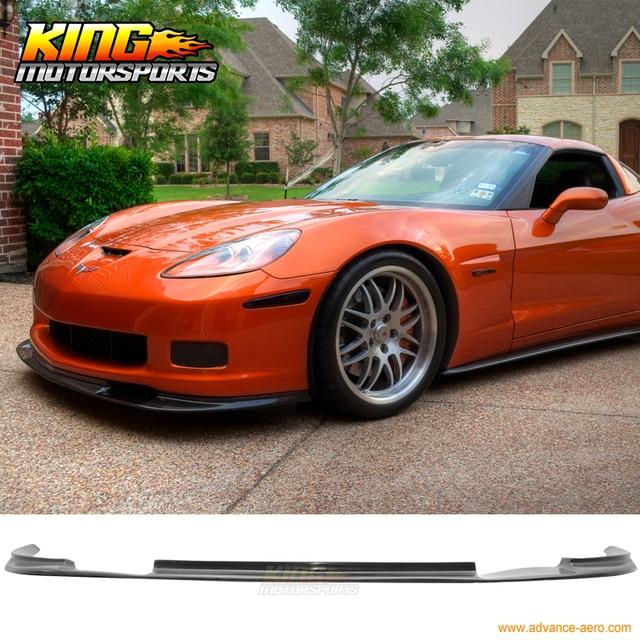 For 05 13 Chevrolet Corvette C6 Z06 Coupe Zr1 Style Front Bumper Lip