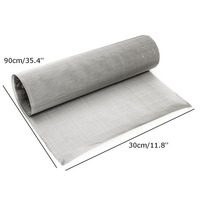 High Quality Stainless Steel 100 Mesh Woven Wire Sheet Cloth Screen Filter Sheet 30 X 90cm