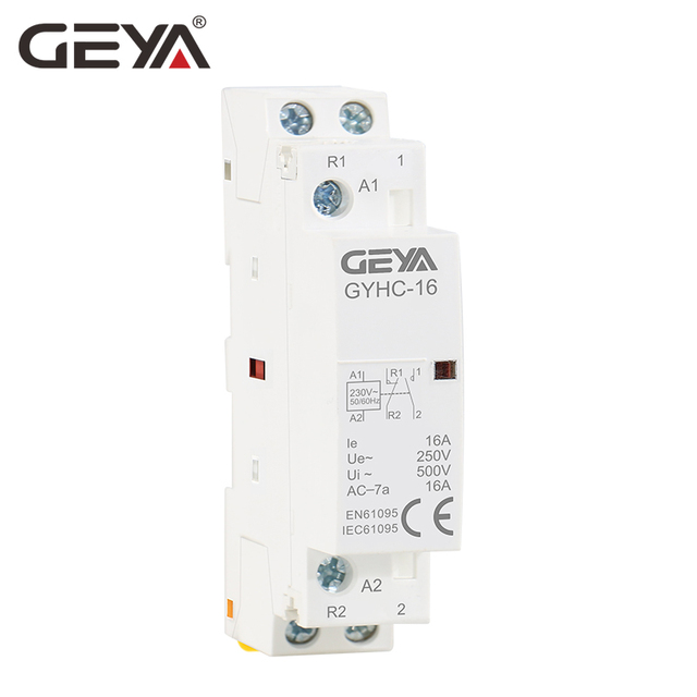 Free Shipping GEYA 2P 16A 1NO1NC & 2NO & 2NC Household AC Modular Contactor 220V 230V Automatic Contactor Din Rail Type