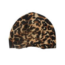 Soft Newborn Baby Leopard Pattern With Bowknot Girls Boys Fashion Adjustable Caps Hat Turban Elastic Cap