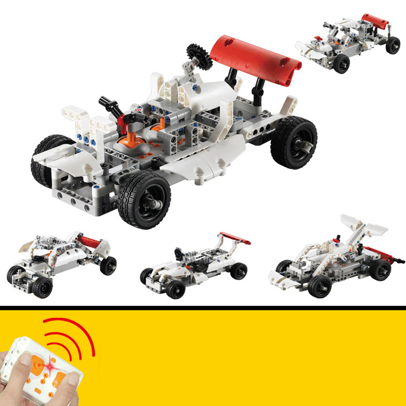 4 in 1 LEPIN Technic Series Blocks Bricks Toys Remote Control Race Car Model Building Blocks Bricks Toys for Children Compatible lepin technic city series 24 hours race car building blocks bricks model kids toys marvel compatible legoe