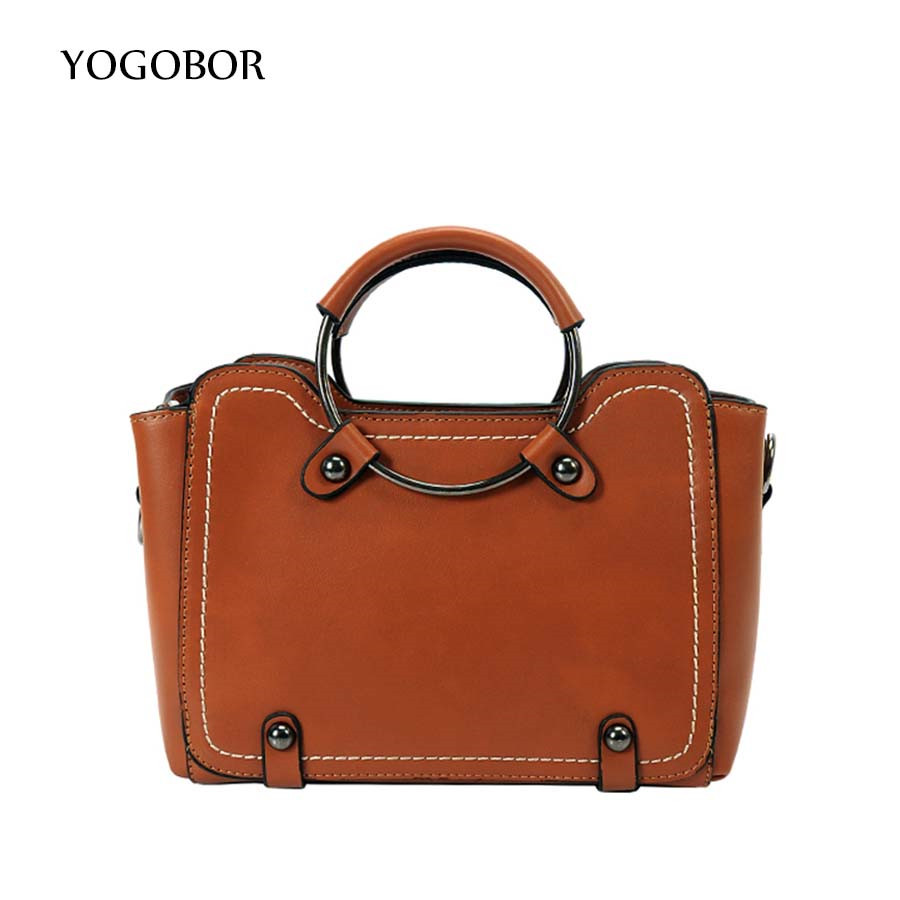 Luxury Women Leather Handbag Brown Retro Vintage Bag Designer Handbags High Quality Famous Brand Tote Shoulder Ladies Hand Bag cooskin luxury retro vintage bag designer handbags high quality cute women leather famous brand tote shoulder office hand bag