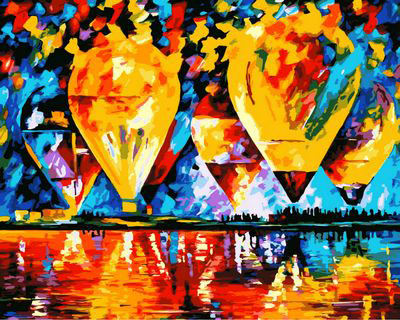 Frameless picture on wall acrylic painting by numbers diy canvas painting art Christmas gift Abstract hot air balloon 40X50CM