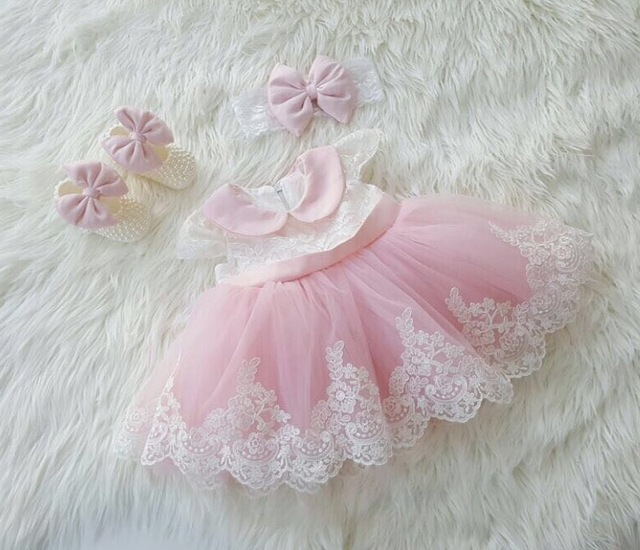 c587323394 Romantic Puffy Pink Tulle Flower Girl Dress for Weddings Big Bow Ball Gown  Girl Party Communion Dress Baby Girl Baptism Dress