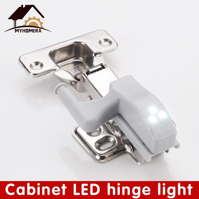 Светодиодный шкаф шарнир сенсор свет внутренний шкаф лампа ночные светильники под шкаф лампа кухонное освещение 0,3 Вт батарейный светодиод|Петли для шкафа|   | АлиЭкспресс