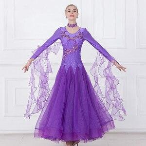 Image 2 - Women Ballroom Dance Dresses Standard Ballroom Dancing Clothes Competition Standard Dance Dress Waltz Foxtrot Dress