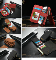 Luxury Retro Multi Functional 2 In 1 Leather Wallet Case For Iphone5 5s SE Magnetic Leather