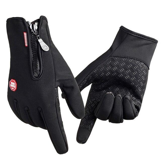 TNINE guantes calientes de invierno impermeables para hombre guantes de esquí Guantes de Snowboard motocicleta montar invierno pantalla táctil nieve Windstopper guante