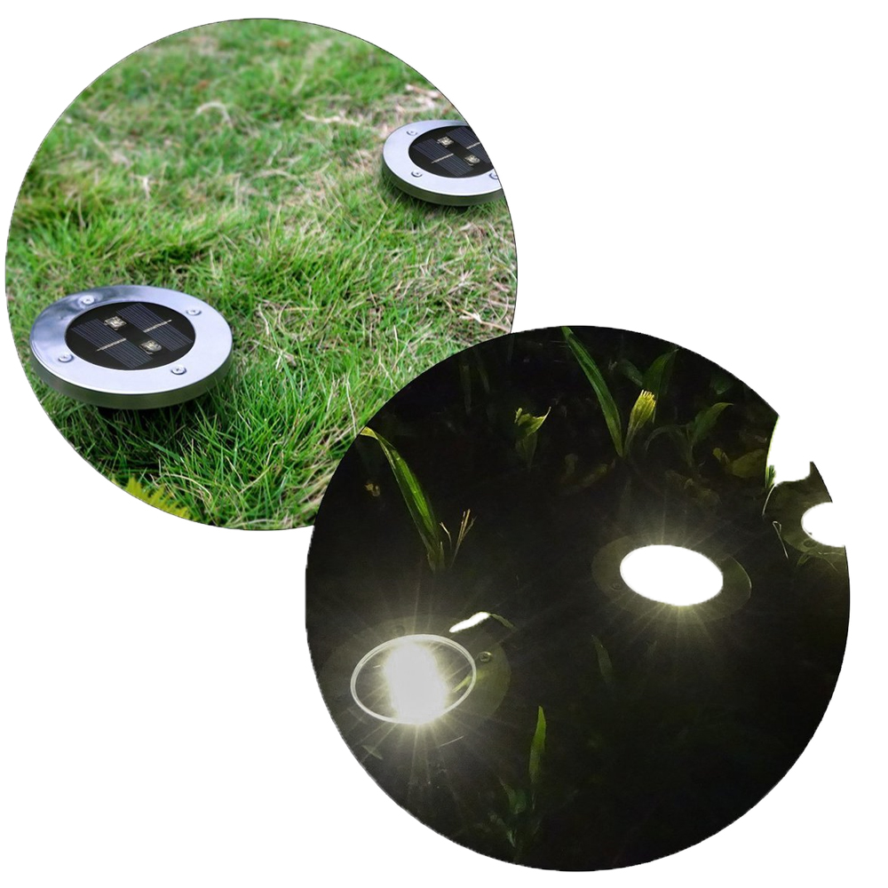 Led Underground Lamps Objective 8 Leds Solar Powered Underground Light Round Outdoor Yard Garden Deck Road Lamp Home Led Ground Light Driveway Lawn Lighting Lights & Lighting