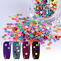 1 caja de born pretty nail ronda glitter paillette 2.5mm color mezclado lentejuelas tips manicura nail art decoraciones