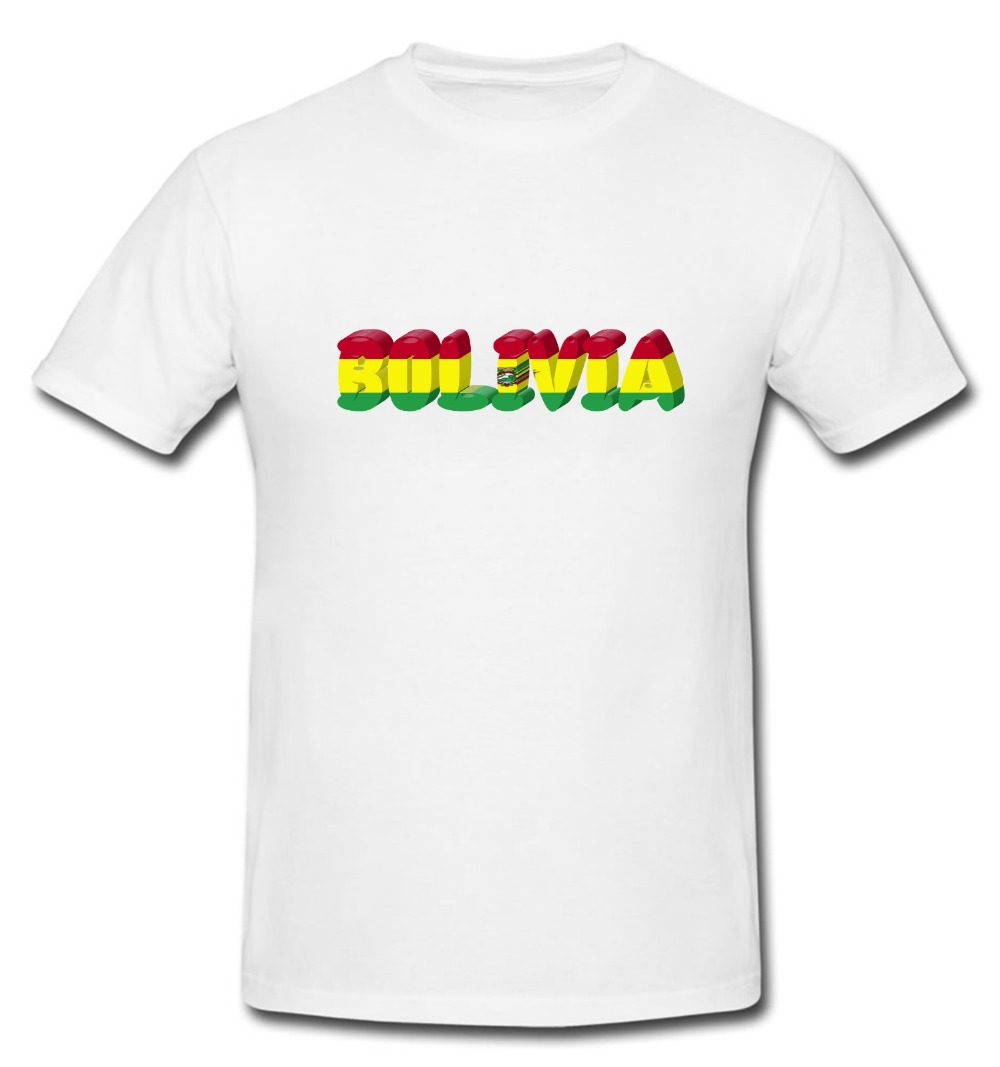 e83734160 Cotton Cool Design 3D Tee Shirts Bolivia Bolivian T shirt Country National  Map Flag Novelty T Shirt Summer Tee Shirt-in T-Shirts from Men s Clothing  on ...