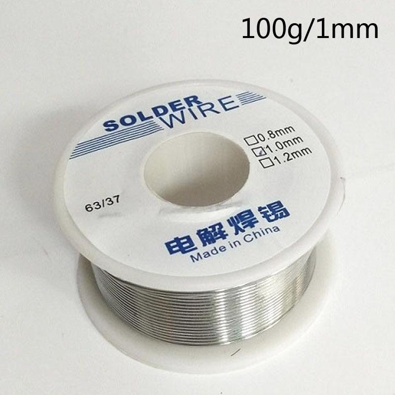 Inteligente Línea De Soldadura De Estaño De 100g Rosin Core 63/37 Cable De Plomo De 1mm Cable De Soldadura De Buena Capacidad No -limpio Y DigestióN Ayudando