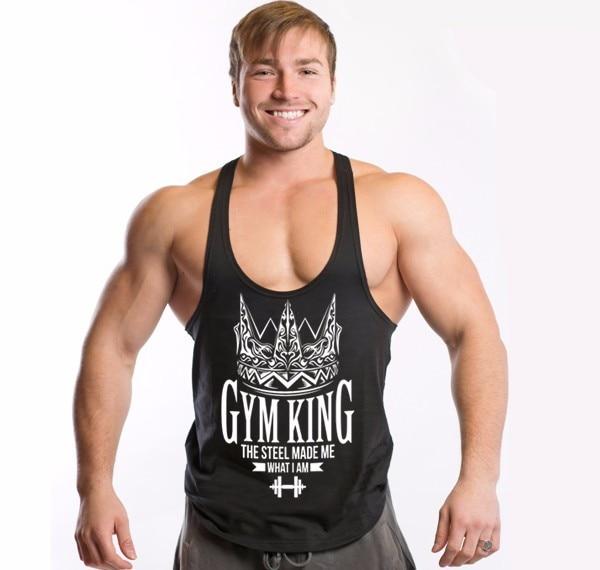 Mens font b bodybuilding b font tank tops fashion gyms clothing O Neck Cotton golds gyms