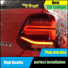 Car styling For Volkswagen POLO 2011-2017 Led Dynamic Flowing Turn Signal Taillight Tail lamp Stop light Fog lamp Rear Lamp все цены