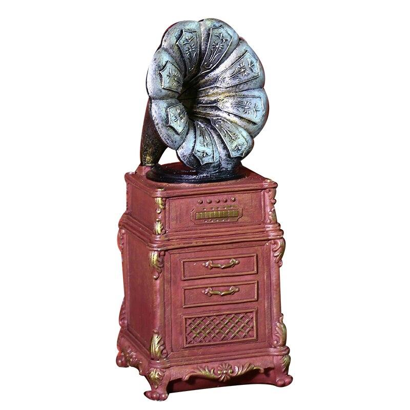 Phonograph Model Money Box Coin Storage Resin Home Decoration Accessories Decor Craft Birthday Gift Kids Piggy bank Money Boxs