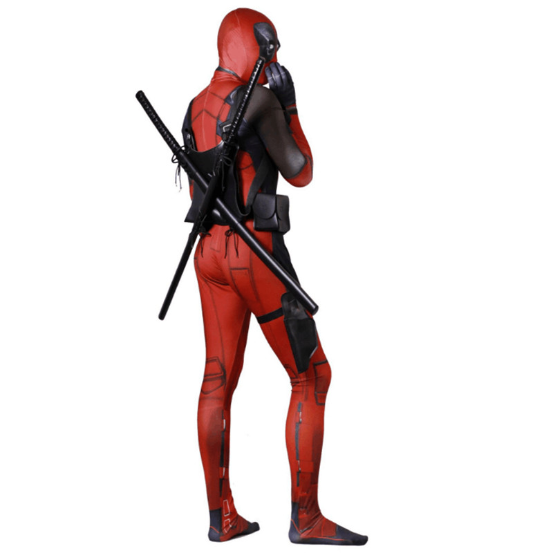 Novelty & Special Use New Pattern Deadpool Wade Winston Wilson Cosplay Costume Adult Children Kid Jumpsuits Bodysuit Customizable Halloween Party