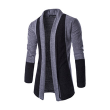 Brand New 2018 Autumn Winter Patchwork Cardigan Men