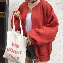 Sweatershirt female 2017 autumn Korean women wild loose lantern sleeve top Harajuku Woman large size Baseball Clothing
