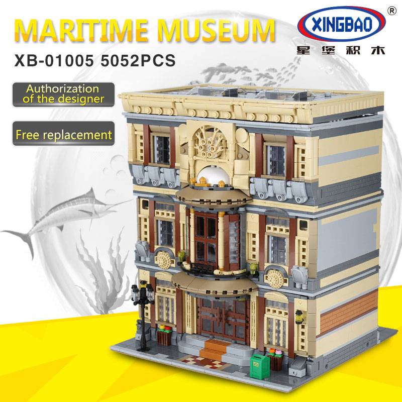 XingBao 01005 5052Pcs Genuine Creative MOC City Series The Maritime Museum Set Children Building Blocks Bricks Toys Model Gifts the maritime engineering reference book