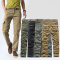 4 Color Plus Size 2016 New Design Men Pants Multi-pockets Zipper Straight Middle Cotton for Male Tactical Casual Capris MG86