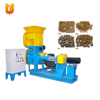 Hot sale Small Animal Pet Catfish Shrimp Food Making Extruder Floating Fish Feed Pellet Machine