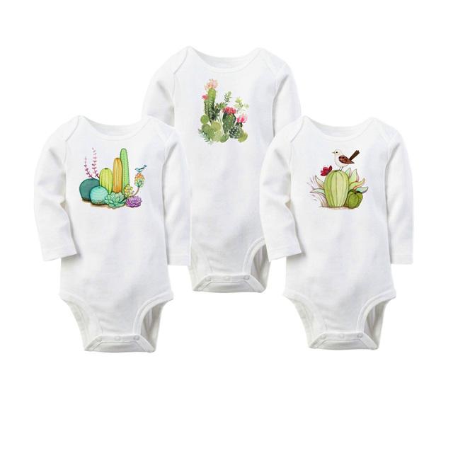TBONTB 3 PCS Corpo Ternos Bonitos Do Bebê BodySuits Algodão do Menino Da Menina macacão de Recém-nascidos Roupa Do Bebê Manga Longa Corpo Terno Ropa Bebes infantil