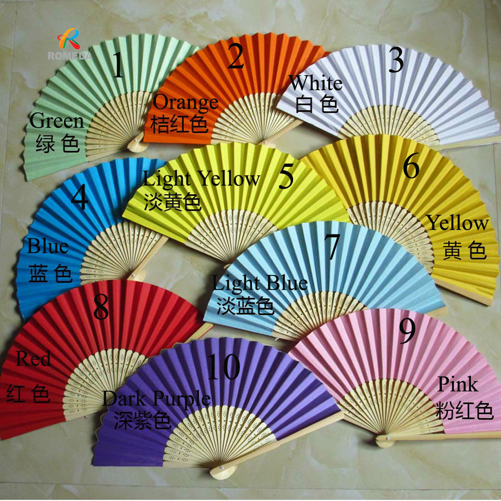50pcs/Lot Wedding gift Chinese Hand Fan Wedding Hand Fan For Party Decoration-in Party Favors from Home & Garden    1