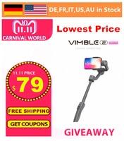 FeiyuTech Vimble 2 Gimbal, 3 Axis Extendable Smartphone Gimbal Stabilizer for iPhone X / 8 / 7 Plus / HUAWEI / Samsung Smartphon
