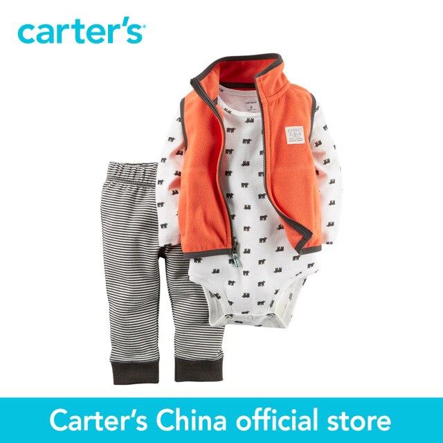 Картера 3 шт. детские дети дети Руно Жилет Установить 121G871, продавец картера Китай официальный магазин
