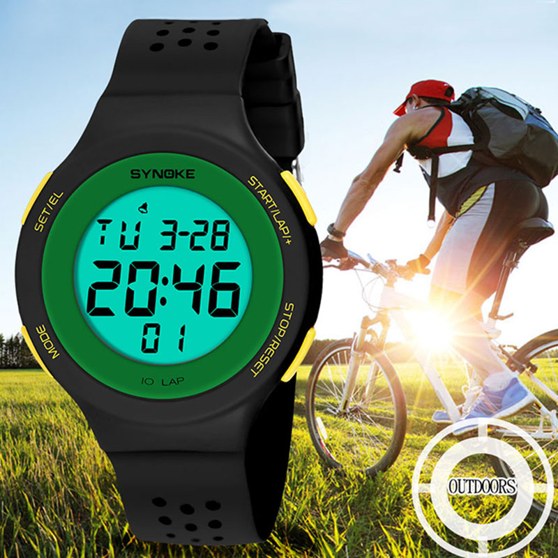 Men Multifunction Water Resistant Watches Travelling Light LED Watch Digital Wristwatches LL@17