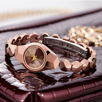 DOM women luxury brand waterproof style quartz watch Tungsten steel gold nurse bracelet