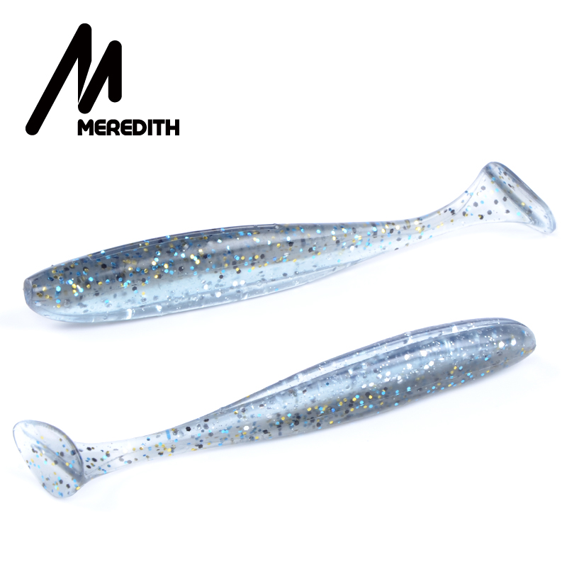 Meredith Easy Shiner Soft Lures 10cm /4.8g 7pcs/lot Swimbaits Artificial Bait Double color Carp Fishing Tackle Fishing Lures meredith 13cm 11 5g 4pcs wobblers fishing lures easy shiner swimbaits silicone soft bait double color carp artificial soft lure