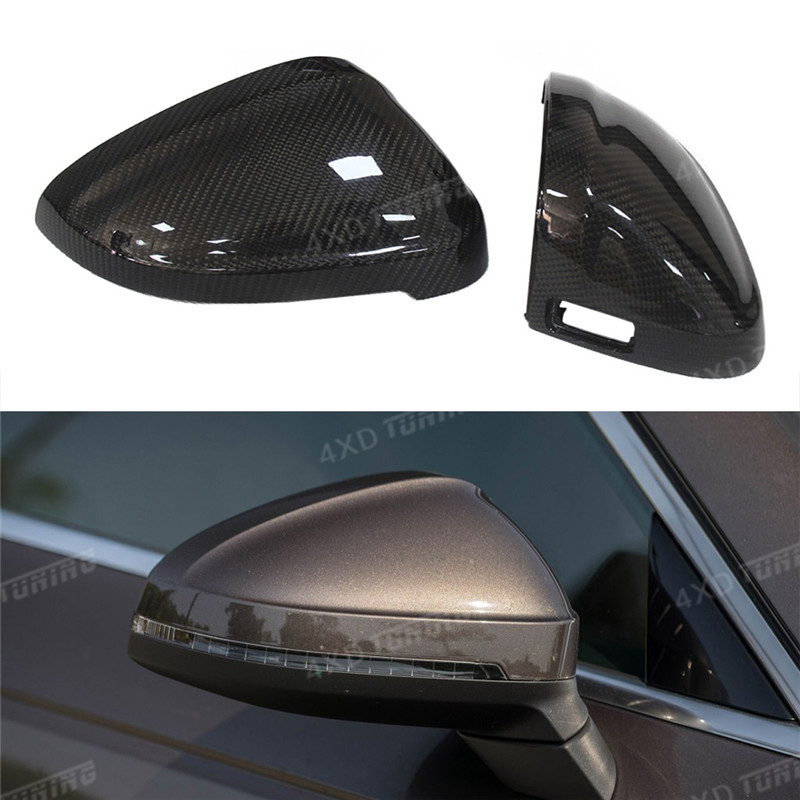 For Audi A4 B9 S4 A5 S5 Carbon Mirror A4 A5 S4 S5 RS4 RS5 Carbon Fiber Rear View Side Mirror Cover 1:1 Replacement Style 2016-UP