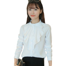 Casual Cotton Office Shirt Women's Blouse Slim Puff Sleeve White Shirts Female Tops Ladies Blouses Blusas Plus Size XXL