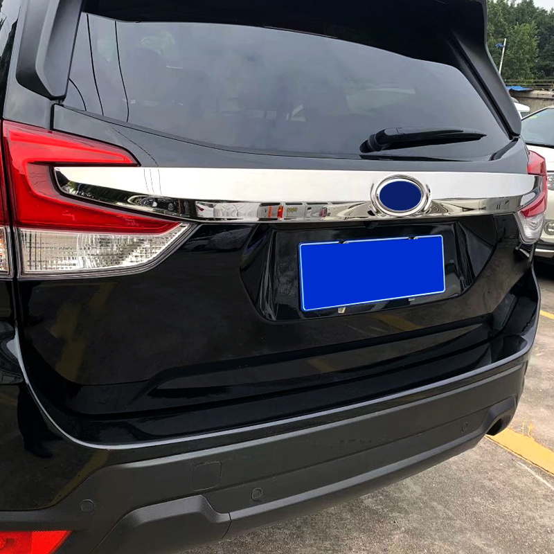 Car Styling Stainless Steel Rear Trunk Lid License Plate Upper Cover Trim 1pcs For Subaru Forester SK 2019-in Interior Mouldings from Automobiles & Motorcycles    3