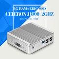 Design sem ventoinhas J1900 N2940 N2930 8G RAM 128G SSD Incorporado Industrial PC Htpc Mini PC Computador Desktop