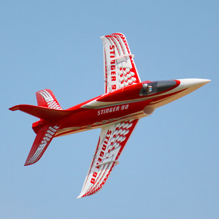 90mm EDF Stinger 90 RC Airplane 165KM/H EDF Fighting EPO RC Fixed Wing Airplane PNP/ARF/KIT Wingspan 44.5inch