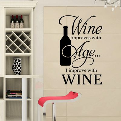diy modern wine kitchen and cozinha refrigerator decoration wall