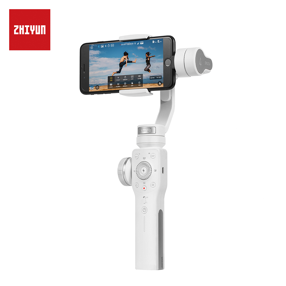 ZHIYUN Officiel Lisse 4 3 Axes Stabilisateur De Cardan pour Smartphone iPhone X 8 Plus 7 6 SE Samsung Galaxy S9, 8,7, 6-in De poche Cardans from Electronique    2