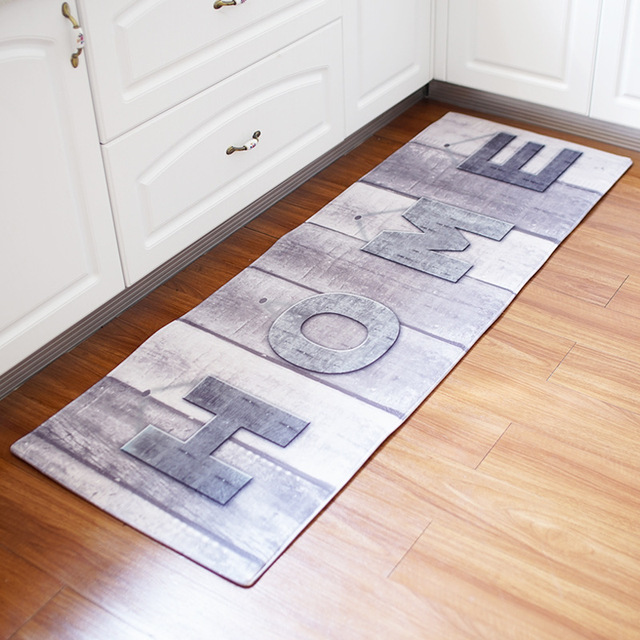 2018 New Long Home Map Old Wood Floor Doormats Non Slip Pad Maple