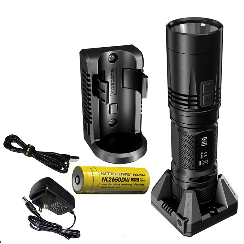 NITECORE R40 Flashlight XP L HI max 1000 lumen beam distance 520 meter tactical torch with