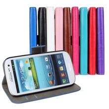 Para El caso de Samsung I9300 galaxy S3 neo i9301 Flip de Cuero cubierta Fundas Capa Teléfono Inteligente Teléfono Celular Casos Estuche Billetera Accesorio bolsas