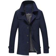 Outwear Long Jacket Men Jaquetas Couro Hommes Jackets Coat Erkek Mont Slim Windbreaker Overcoat Mens Trench